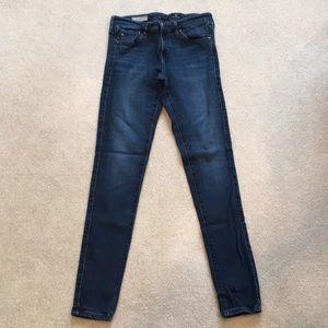 AG dk blue jeans, The Legging, super skinny, 27R